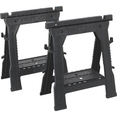 Channellock 27 In. L Plastic Folding Sawhorse Set (2-Pack)